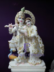 Marble Radha Krishna Jugal Statue