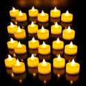 Led Diwali Diya Plastic Led Tea Light Candles (white) -pack Of 24