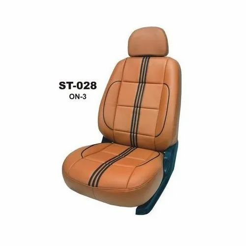 Seattek Brown Car Leather Seat Cover