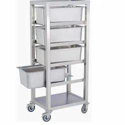 aarvik Silver Food Trolley, Load Capacity: 10 Kg Per Layer