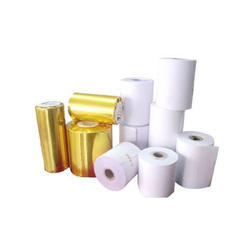White and Yellow Plain Thermal Paper Roll, 0.50 mm