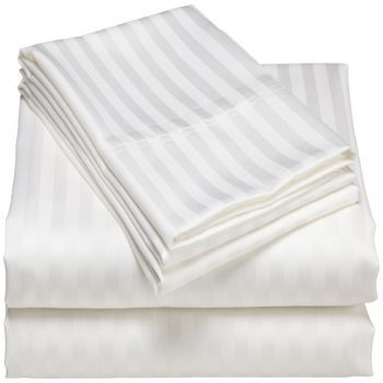 White Striped Bed Sheet