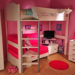 Wooden Boy, Girl Kids Bed Room