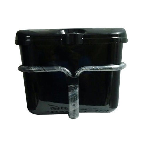 Black Motorcycle Side Box
