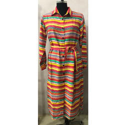 Ladies Multi Color Long Robe