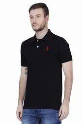Mens Black Polo T Shirt