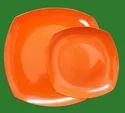 Orange Melamine Swing Plates