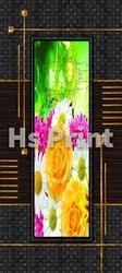 Membrane Digital Door Floral Print