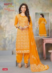Aarvi Fashion's Bhatik Cotton Salwar Suits