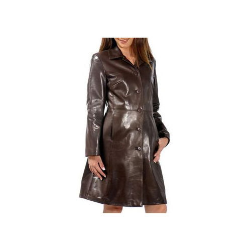 bef888727c Ladies Long Leather Coat at Rs 11917.7 /piece | Women Leather Coat ...