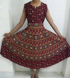 Sanganeri Maroon Color Long Maxi Dress