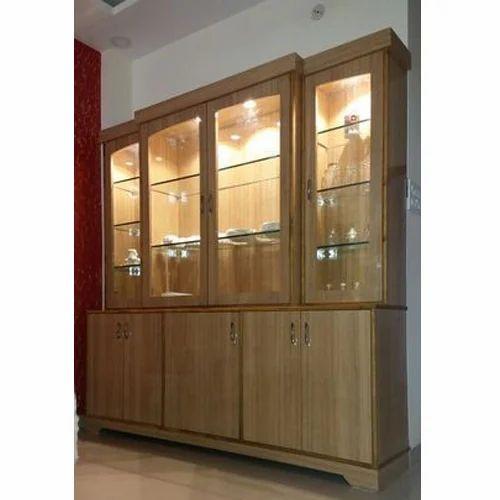 Brown Plywood Display Cabinet Rs 1000, Modern Display Cabinet