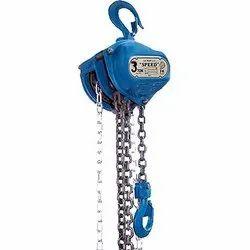 Motorized Mild Steel Speed Chain Pulley Block, for Double Beam Crane, Capacity: 3 ton