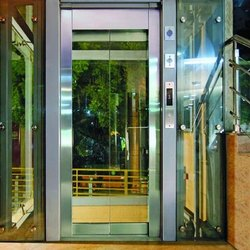 Cooper Elevator Framed Glass Swing Door Lift, Max Persons/Capacity: 6 Persons