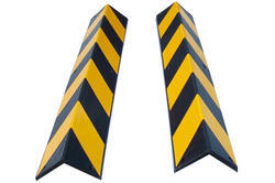 Yellow and Black Rubber Corner Guard