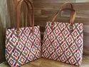 Ekat Print Tote Handbags