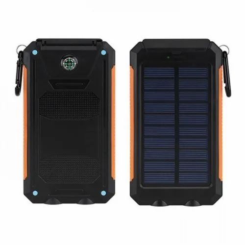 Offiworld Black Solar Power Bank with Torch