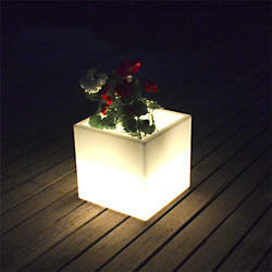 LED Cubical Flower Pot