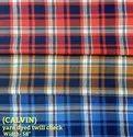 Calvin Yarn Dyed Twill Check Shirting Fabrics