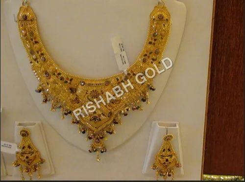e1d8899a9f88bb Fancy Gold Necklace Set, Gold & Gold Jewellery   Rishabh Gold Jewels ...