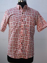 Mens Floral Pink Printed Shirt