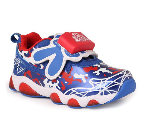 Blue And Red Athletic Shoes For Boys
