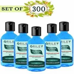 Oriley Waterless Hand Sanitizer 70% Isopropyl Alcohol Based Instant Germ Protection 300x50 ml