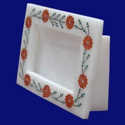 Indian & Fancy Marble Inlay Photo Frame
