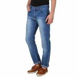 Men Button Blue Denim Jeans