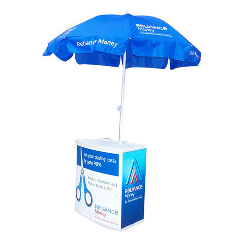 MDF and Polyester Umbrella Promotional Table