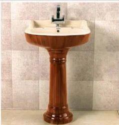 Wooden Sarita Pedestal Wash Basin