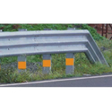 Three Beam Single Sided Metal Crash Barrier