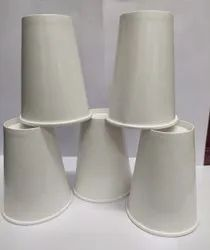 White 350 ML DOUBLE WALL PAPER GLASS, For Event