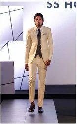 Boys Off White Three Piece Suit