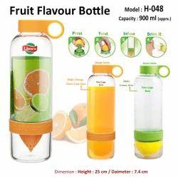 Transparent Fruit Flavour Bottle H-048, Capacity: 900ml
