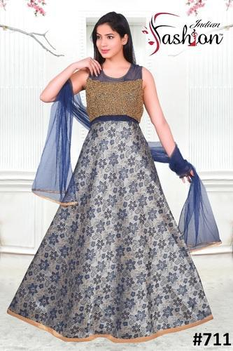 3e17a601f47e Semi Stitched Western Gown, Rs 2425 /piece, Indian Fashion | ID ...