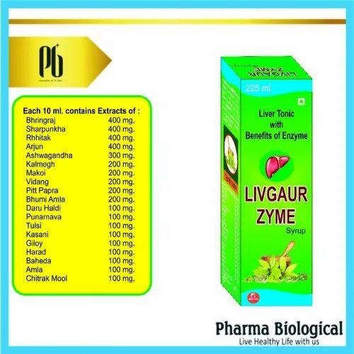 Livegaur Zyme Herbal Liver Syrup, Packaging Type: Bottle