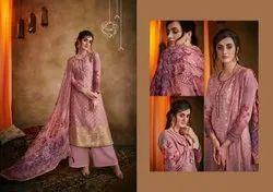 Glorious Muslin Jacquard Printed Party Wear Salwar Kameez