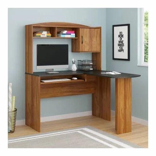 Black Brown Mainstays L Shaped Desk, Black Corner Computer Desk With Hutch