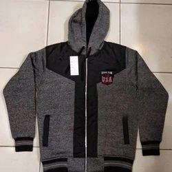 9412b3f7fe53 Black And Grey Boys Full Sleeve Jacket