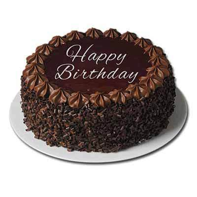 Wondrous Eggless Happy Birthday Truffle Cake 1 Kg At Rs 1195 One Cake Funny Birthday Cards Online Aeocydamsfinfo