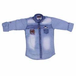 Cotton Regular Wear Kids Shirt