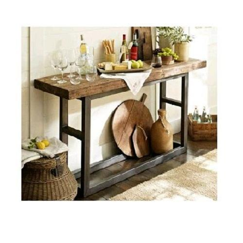 78141bc1f4c Griffin Reclaimed Wood Console Iron Table - Anamta Craftique ...