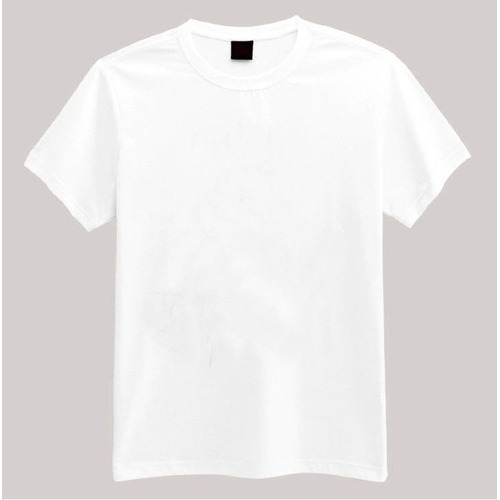 5d5d9c91501e Mens Cotton Half Sleeves White T-Shirt, Rs 100 /piece, P Sports Co ...