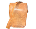Full Flap Vertical Leather Messenger Bag