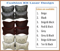 Car Cushion Kit Set Of 4 Pc laser Design