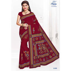 1109 Ladies Cotton Printed Saree