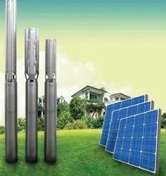 Solar Panels And Submersible Pump