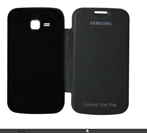 the latest 68949 7bd23 Flip Cover For Samsung Galaxy Star Pro 7262 Black
