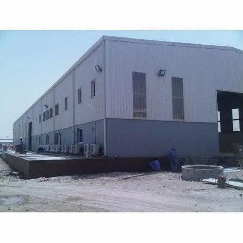Steel Fabrication Services: Mild Steel PEB Factory Shed Fabrication Services, In India